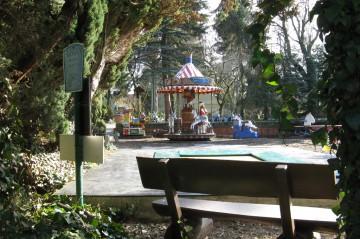 Einer von zwei Spielplätzen auf dem Zoogelände. Foto: Jan Engelken