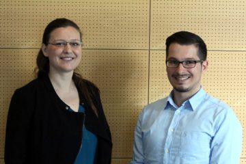 Berufseinstieg nach dem Studium: Pia Dubray (BS|NETZ) und Richard Frehe (BS|ENERGY). Foto: Jan Engelken