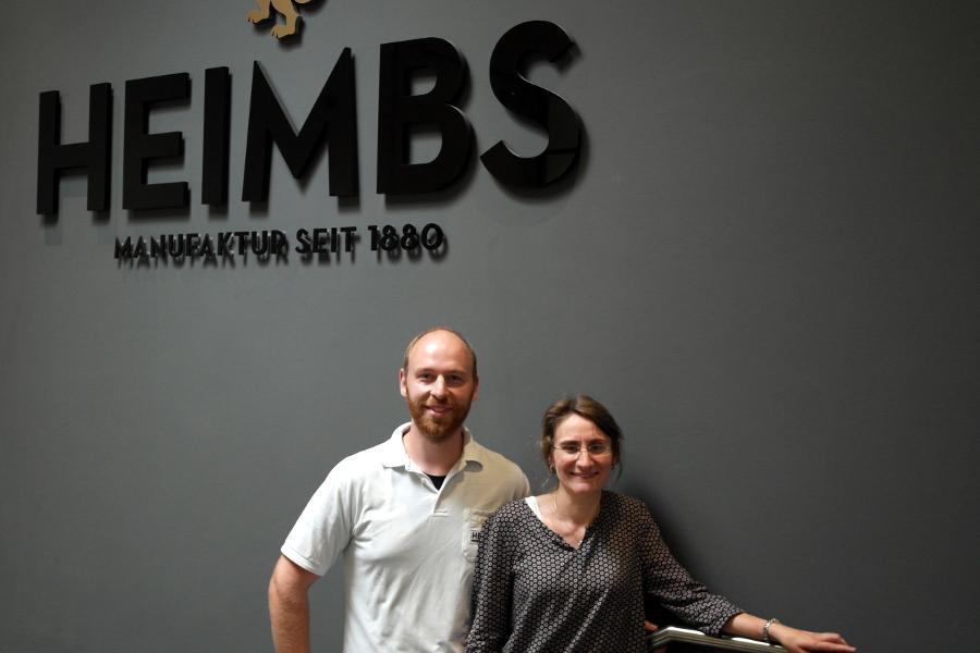 Am Arbeitsplatz kennengelernt und seit sechs Jahren verheiratet: André Stöhr (39) und Stefanie Stöhr-Böttger (36) von der Kaffeemanufaktur Heimbs