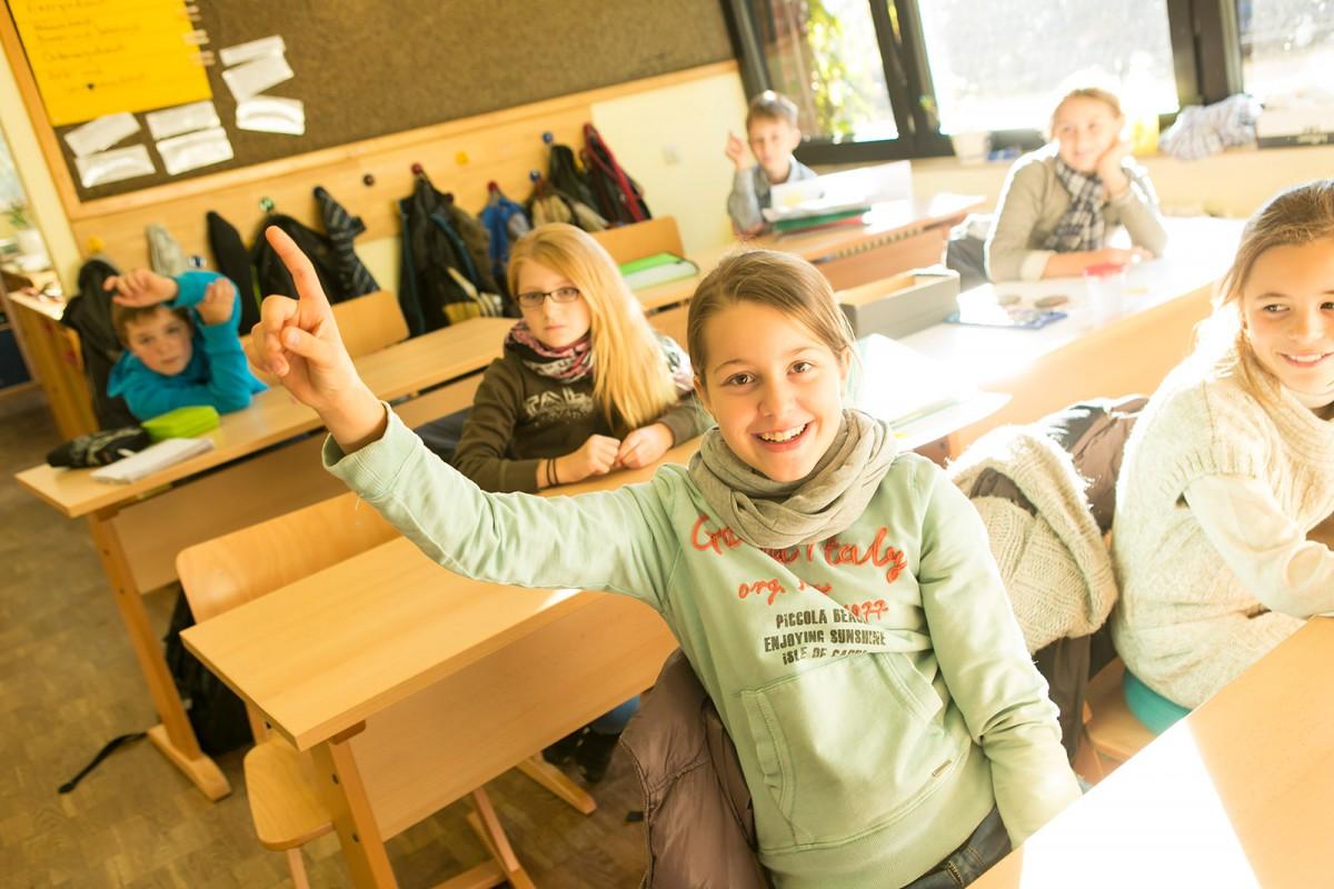 Eine der Gymnasialklassen. Hier werden Schülerinnen und Schüler entsprechend ihrer Begabung unterrichtet.