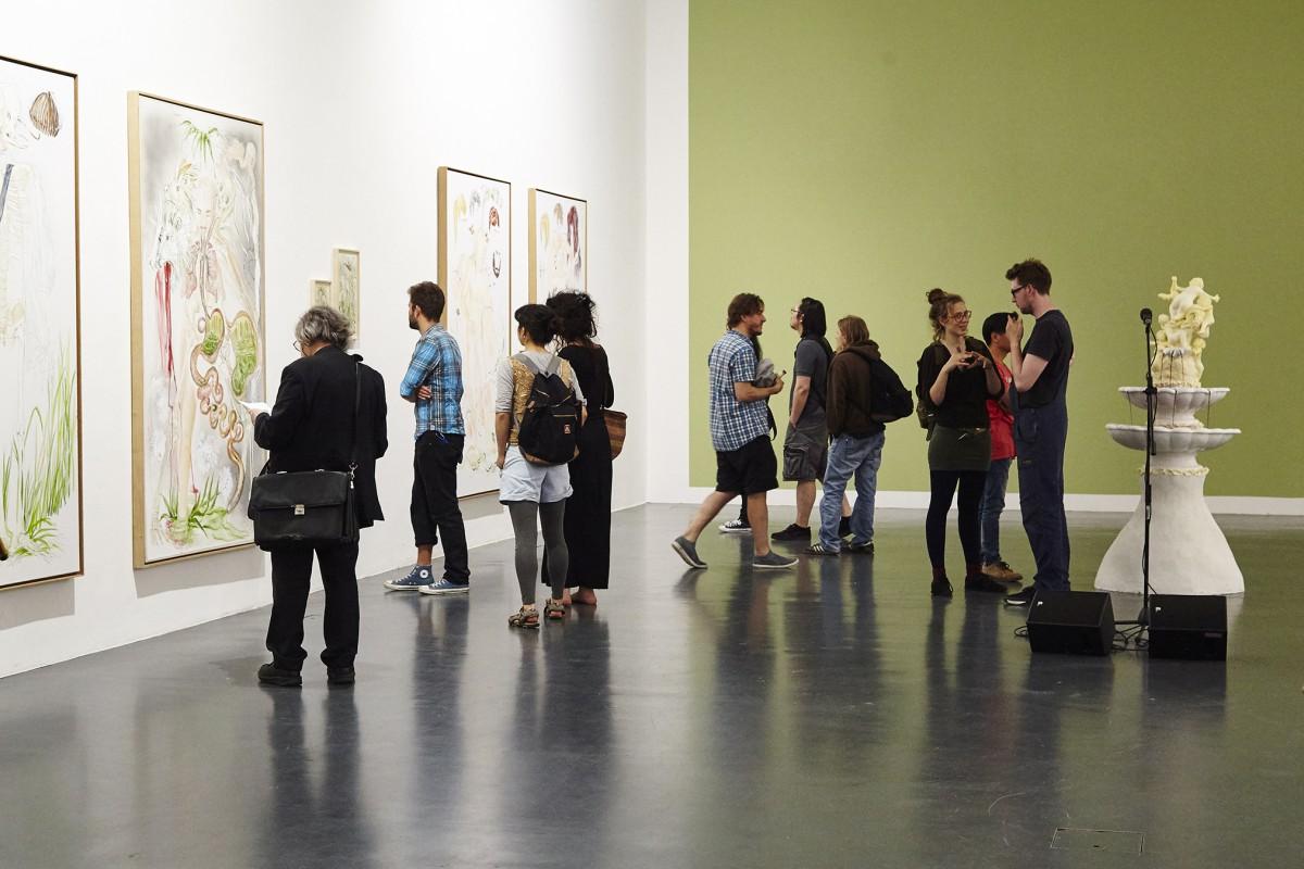 In der Galerie der HBK Braunschweig finden regelmäßig Ausstellungen von Studierenden statt. Foto: Inga Barnick.